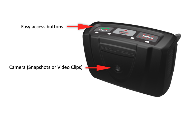 Secutraq Buttons and Camera